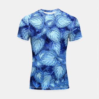 Lovely Leaves, in Blue Shortsleeve Rashguard thumbnail image