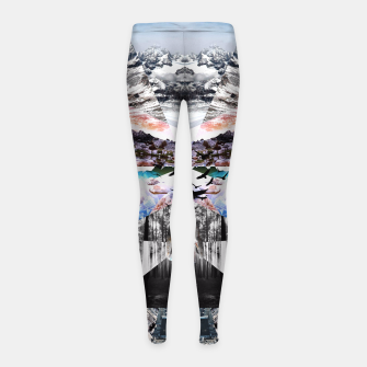 Thumbnail image of COLLIDE D1 Girl's Leggings, Live Heroes