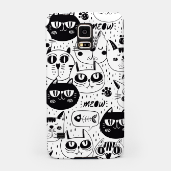 Thumbnail image of Black & White Cat Faces Handyhülle für Samsung, Live Heroes