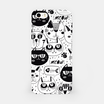 Thumbnail image of Black & White Cat Faces iPhone-Hülle, Live Heroes