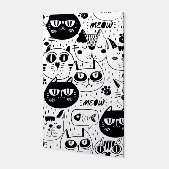 Thumbnail image of Black & White Cat Faces Canvas, Live Heroes