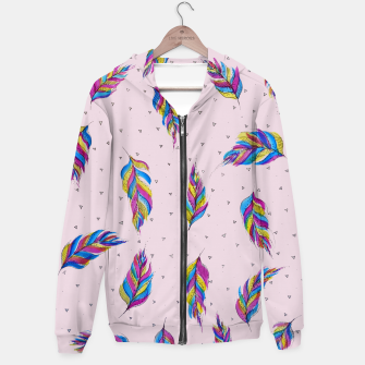 Miniatur Feathers, Bright and colourful Hoodie, Live Heroes