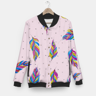 Miniatur Feathers, Bright and colourful Baseball Jacket, Live Heroes