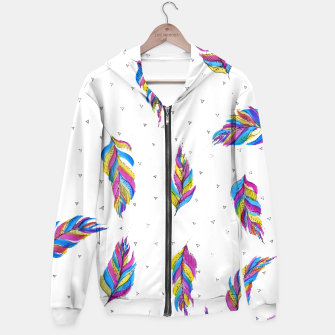 Miniatur Boho Feathers, bright with black and white background  Hoodie, Live Heroes