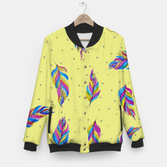 Miniatur Bohemian Feathers, bright and colourful Baseball Jacket, Live Heroes