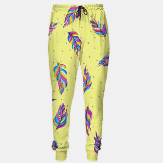 Miniatur Bohemian Feathers, bright and colourful Sweatpants, Live Heroes