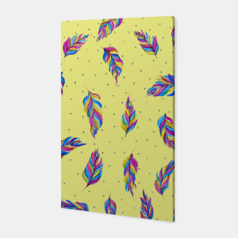 Thumbnail image of Bohemian Feathers, bright and colourful Canvas, Live Heroes