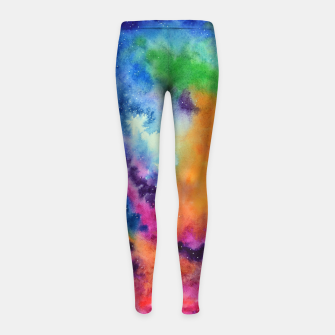 Miniature de image de Colours of unicorn Island Girl's Leggings, Live Heroes