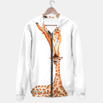 Miniaturka Mother Giraffe with baby, animal love, trendy design Hoodie, Live Heroes