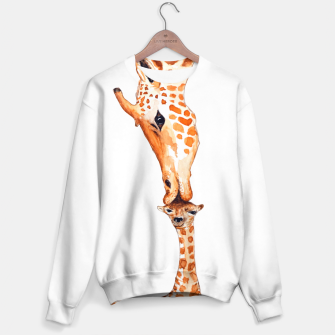 Miniaturka Mother Giraffe with baby, animal love, trendy design Sweater, Live Heroes