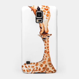 Miniaturka Mother Giraffe with baby, animal love, trendy design Samsung Case, Live Heroes