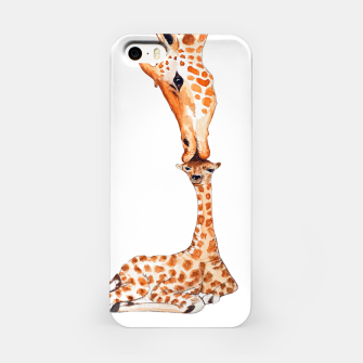 Miniaturka Mother Giraffe with baby, animal love, trendy design iPhone Case, Live Heroes