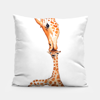 Miniaturka Mother Giraffe with baby, animal love, trendy design Pillow, Live Heroes