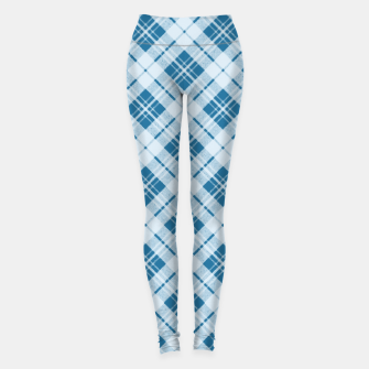 Miniaturka Trendy Light Blue tartan pattern Leggings, Live Heroes