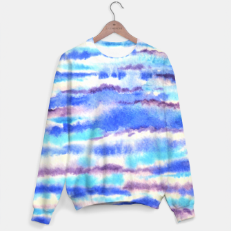 Miniatur Waves, water, ocean, summer, blue, surf Sweater, Live Heroes