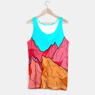 Miniatur The Red and Orange Mounts Tank Top, Live Heroes