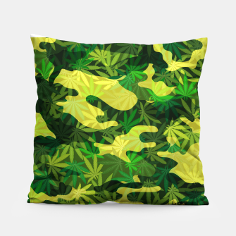 """Thumbnail image of Camouflage Weed """"CamoWeed"""" Pillow, Live Heroes"""