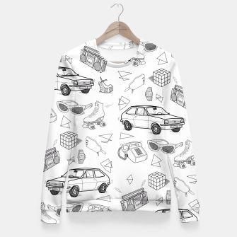 Thumbnail image of UNFORGETTABLE 80s Fitted Waist Sweater, Live Heroes