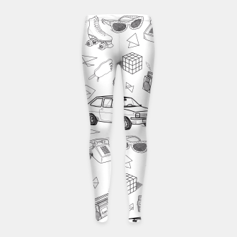 Thumbnail image of UNFORGETTABLE 80s Girl's Leggings, Live Heroes