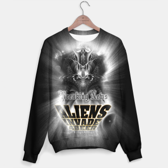 Thumbnail image of Aliens Invade 4 Beer Galaxy Attack FLMK Sweater, Live Heroes