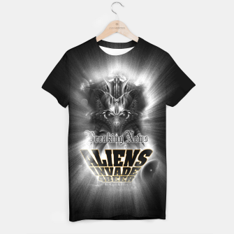 Thumbnail image of Aliens Invade 4 Beer Galaxy Attack FLMK T-shirt, Live Heroes