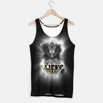Thumbnail image of Aliens Invade 4 Beer Galaxy Attack FLMK Tank Top, Live Heroes