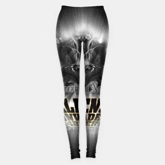 Thumbnail image of Aliens Invade 4 Beer Galaxy Attack FLMK Leggings, Live Heroes