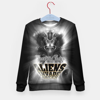 Thumbnail image of Aliens Invade 4 Beer Galaxy Attack FLMK Kid's Sweater, Live Heroes