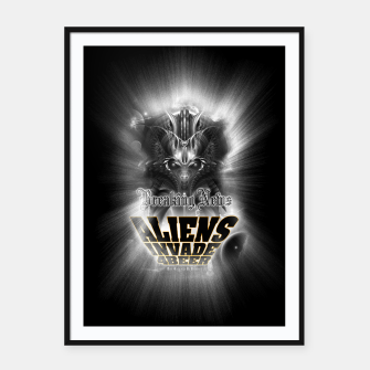 Thumbnail image of Aliens Invade 4 Beer Galaxy Attack FLMK Framed poster, Live Heroes