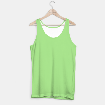 Miniatur Light green color Tank Top, Live Heroes