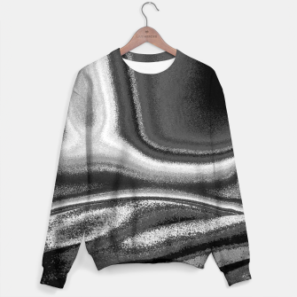 Miniatur Black and White Waves Sweater, Live Heroes