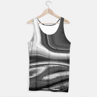 Miniatur Black and White Waves Tank Top, Live Heroes
