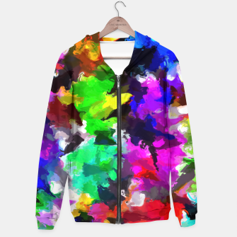 Miniatur psychedelic splash painting abstract texture in pink blue green yellow red black Hoodie, Live Heroes