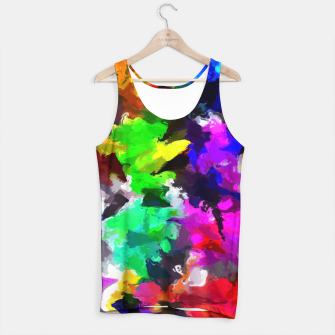 Miniatur psychedelic splash painting abstract texture in pink blue green yellow red black Tank Top, Live Heroes