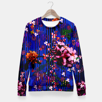Thumbnail image of Floral striped Fitted Waist Sweater, Live Heroes