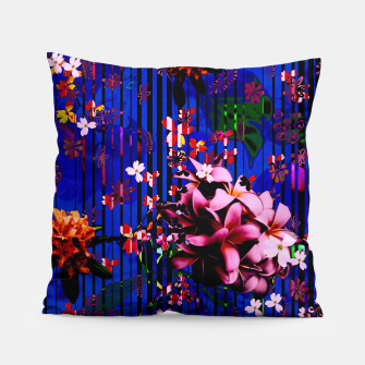 Thumbnail image of Floral striped Pillow, Live Heroes