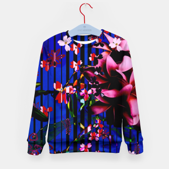Thumbnail image of Floral striped Kid's Sweater, Live Heroes