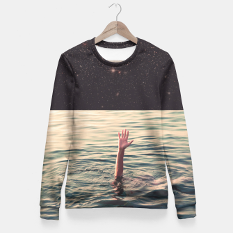 Thumbnail image of Drowned in space Fitted Waist Sweater, Live Heroes