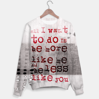 Thumbnail image of The Numb Quote Sweater, Live Heroes