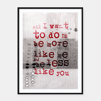 Imagen en miniatura de The Numb Quote Framed poster, Live Heroes