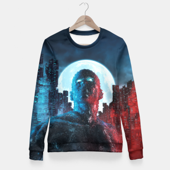 Thumbnail image of Urban Android Fitted Waist Sweater, Live Heroes