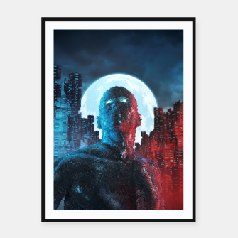 Thumbnail image of Urban Android Framed poster, Live Heroes