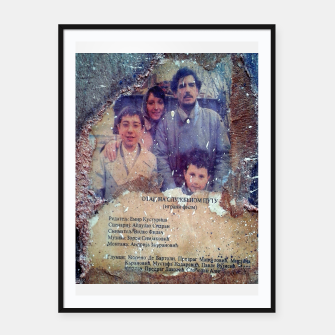 Thumbnail image of collage When Father Was Away on Business Framed poster, Live Heroes
