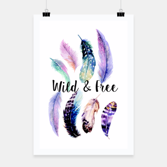 Thumbnail image of Feathers Wild & Free Poster, Live Heroes