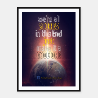 Thumbnail image of We're all Stories Framed Poster, Live Heroes