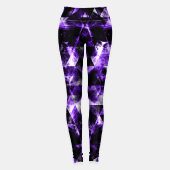 Thumbnail image of Electrifying purple sparkly triangle flames Leggings, Live Heroes