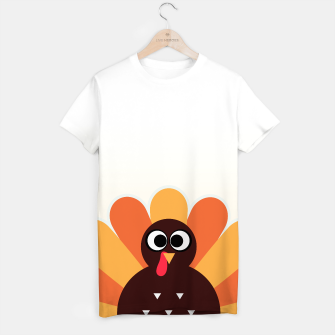 Thumbnail image of Designers funny tshirt with Turkey brown, Live Heroes