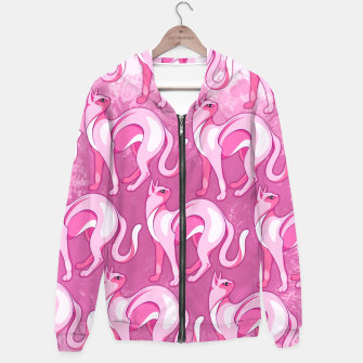 Thumbnail image of Pink Cat Mood Hoodie, Live Heroes