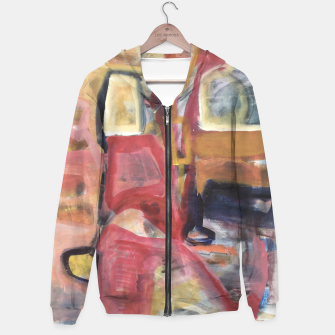 Thumbnail image of Christmas Shopping Abstract Work Hoodie, Live Heroes