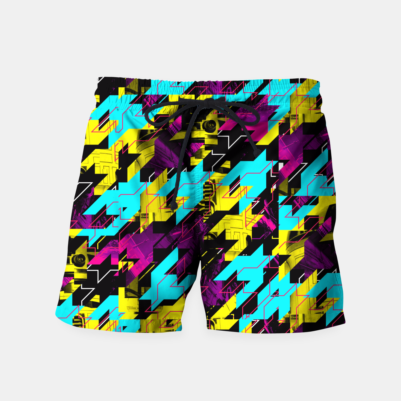 Image of HOUNDSTOOTH GEEK Swim Shorts - Live Heroes
